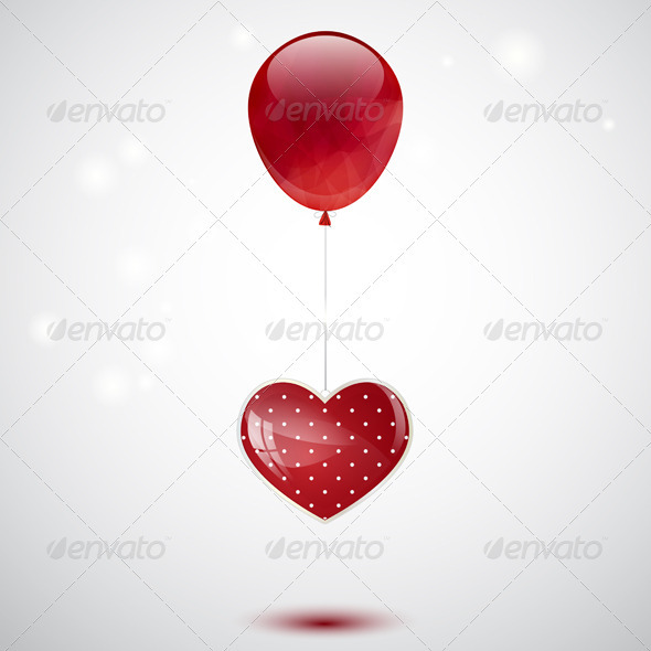 GraphicRiver Heart and Balloon 3526832