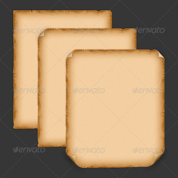 Realistic Parchment Pack - Decorative Graphics