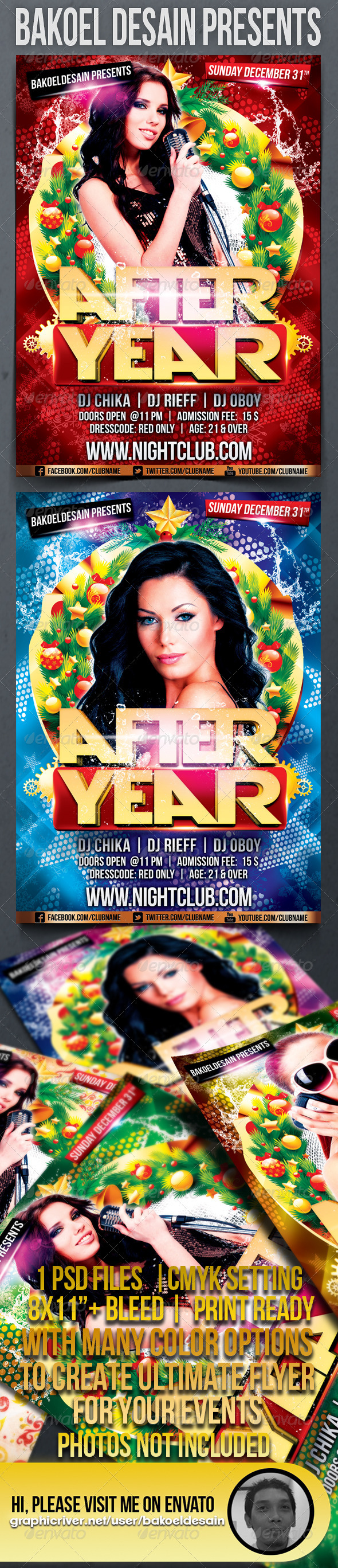 After Year Party Flyer - Clubs & Parties Events