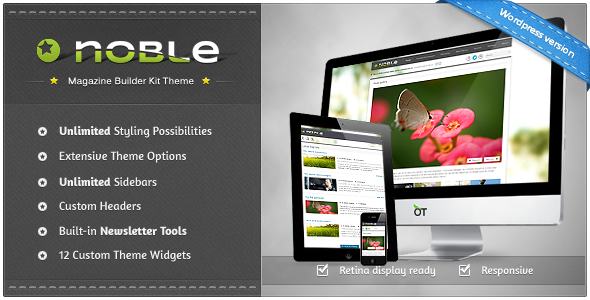 Noble - Responsive Magazine Builder Kit Theme - Blog / Magazine WordPress