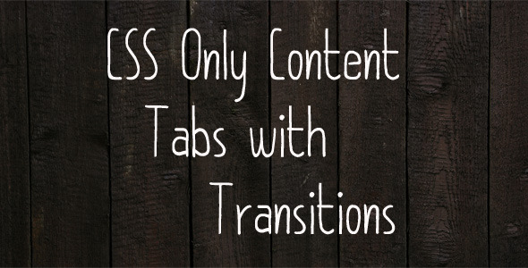 CodeCanyon CSS3 Transition Content Tabs 3528222