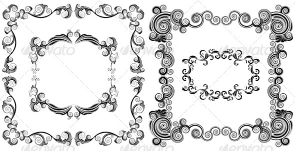 GraphicRiver Ornamented Frames 3528252