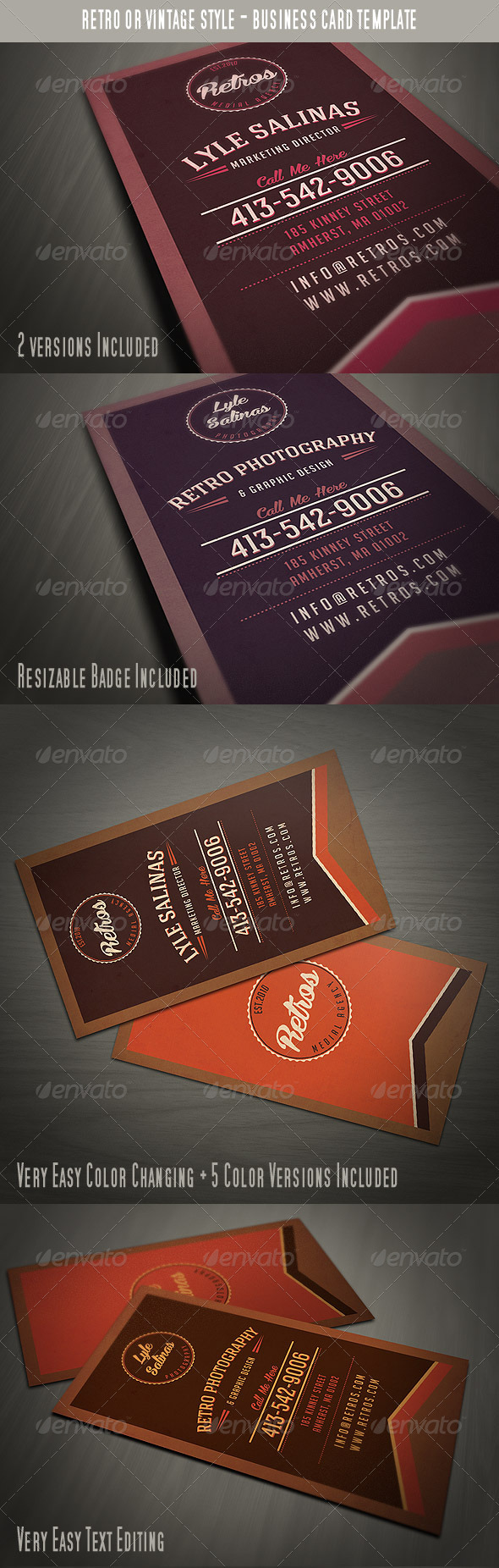 GraphicRiver Vintage Style Business Card 3528341