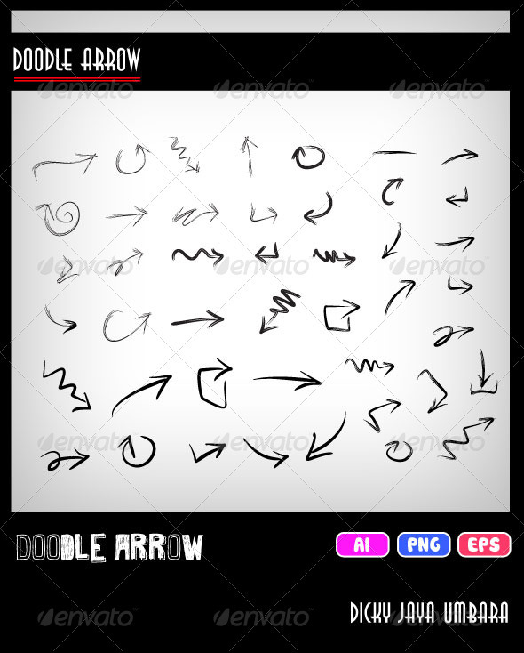GraphicRiver Doodle Arrow 3528418
