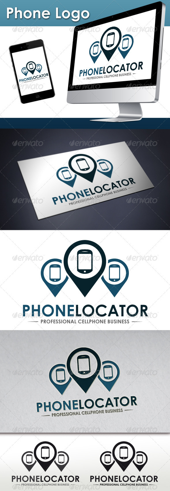 GraphicRiver Mobile Locator Logo 3496880