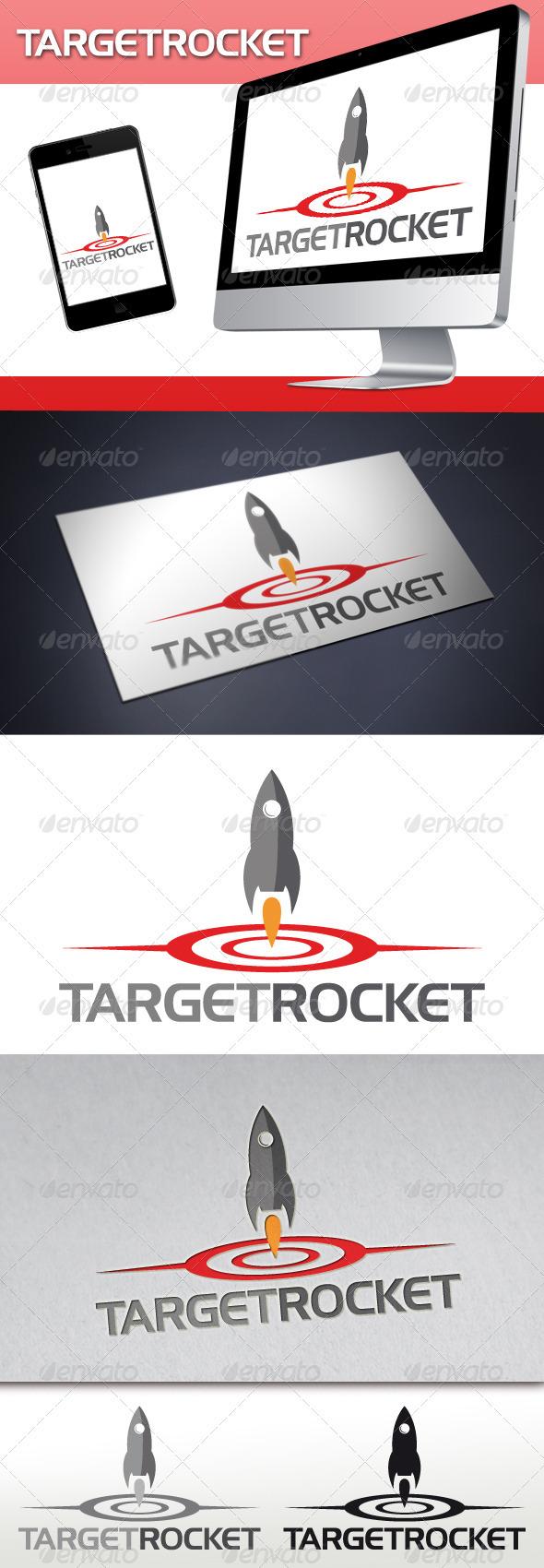 GraphicRiver Target Rocket Logo 3510555