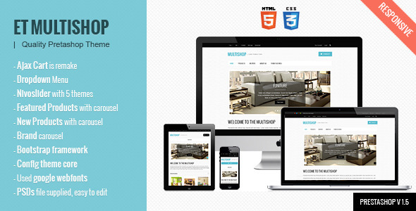 ThemeForest Multishop Prestashop Theme 3131531
