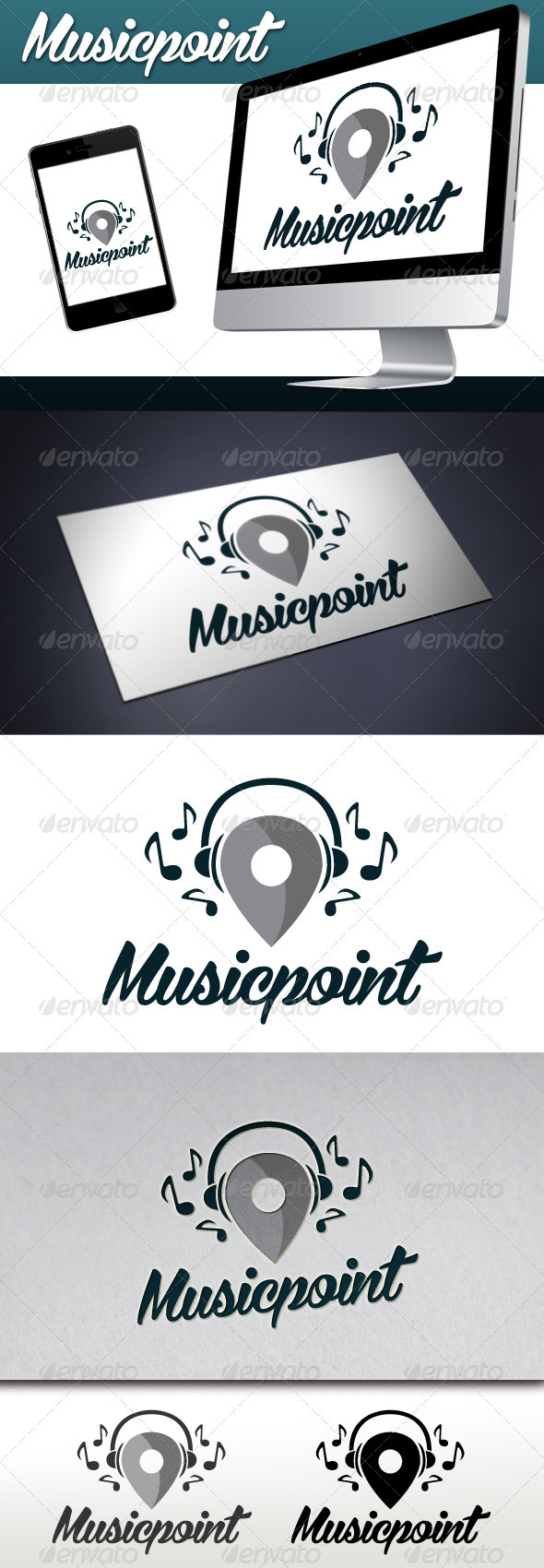 GraphicRiver Music Locator Logo 3522693