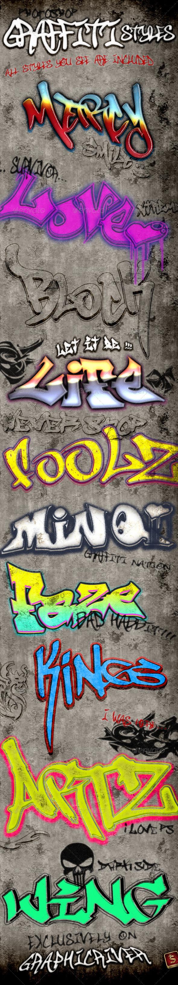 GraphicRiver Graffiti Styles 3528850