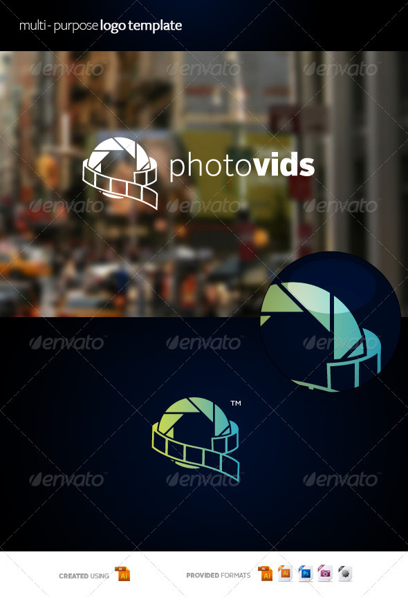 GraphicRiver Photovids Logo Template 3529000
