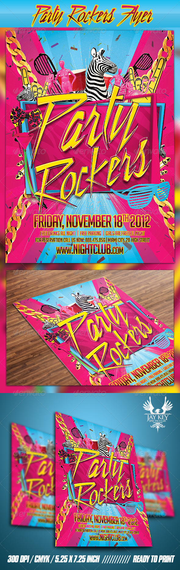 GraphicRiver Party Rockers Flyer 3529636