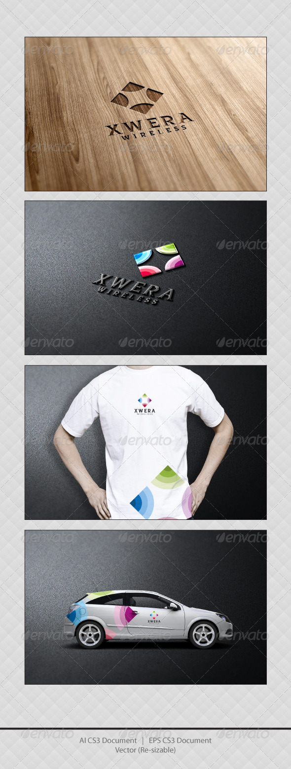 GraphicRiver Xwera Wireless Logo Templates 3530082