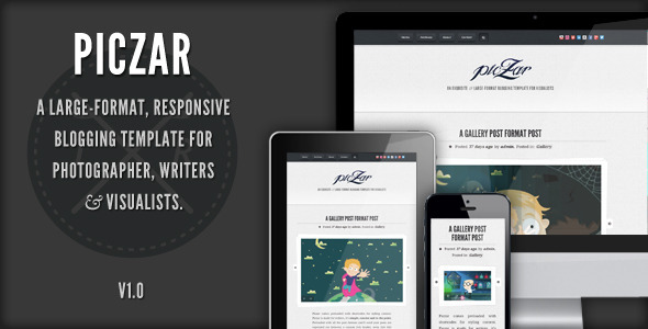 ThemeForest Piczar WordPress Blog Theme 3530724