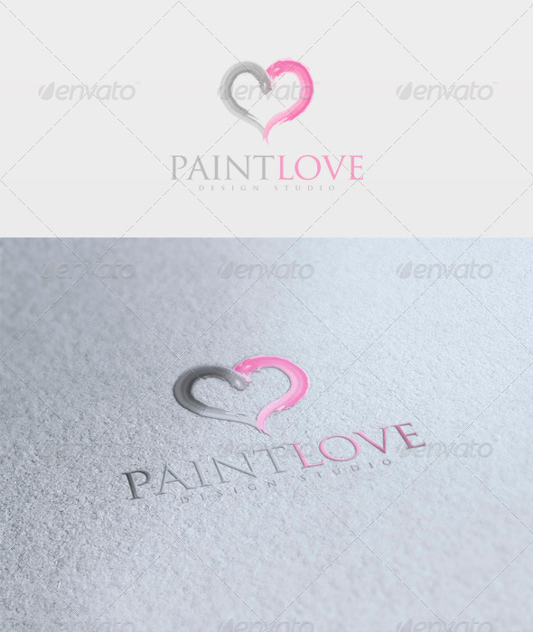Paint Love Logo - Vector Abstract