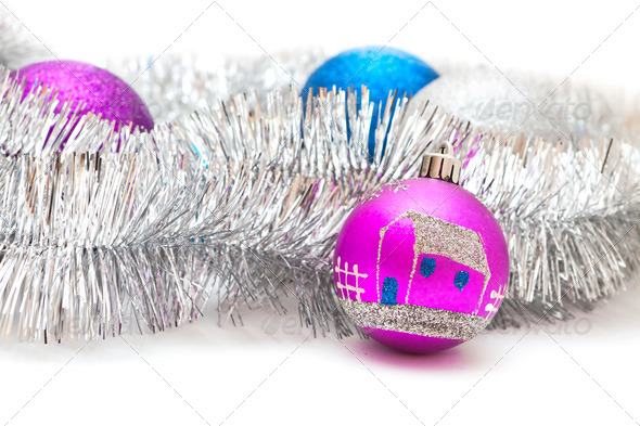 Christmas decorations and garland - Stock Photo - Images