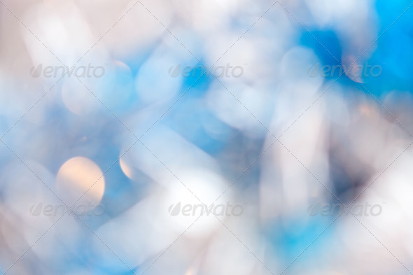 Christmas light blue background - Stock Photo - Images