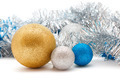 silver and gold Christmas decorations - PhotoDune Item for Sale
