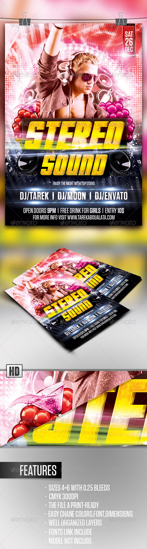 GraphicRiver Stereo Sound Flyer 3531779