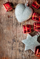 Christmas background with silver and red decoration - PhotoDune Item for Sale