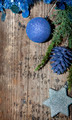 Christmas background with silver and blue decoration - PhotoDune Item for Sale