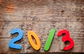 New Year numbers on the wooden background - PhotoDune Item for Sale