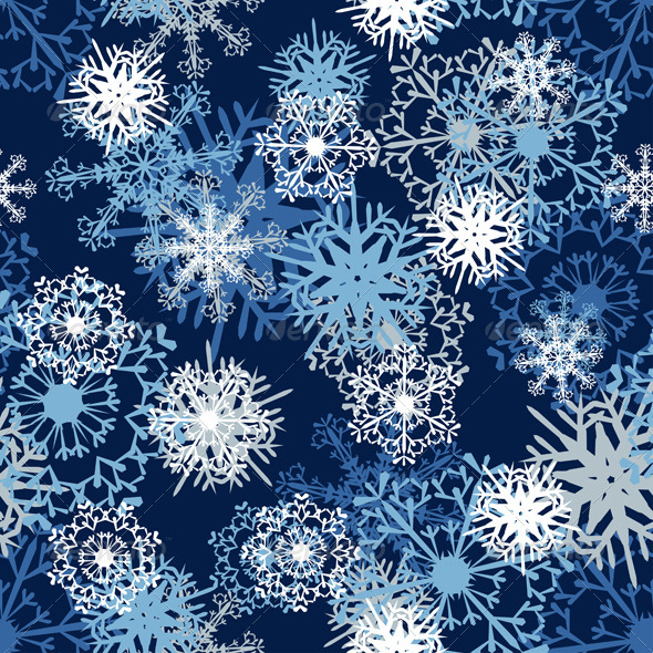 GraphicRiver Seamless Snowflake Pattern 3533683