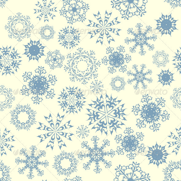 GraphicRiver Seamless Snowflake Pattern 3533686
