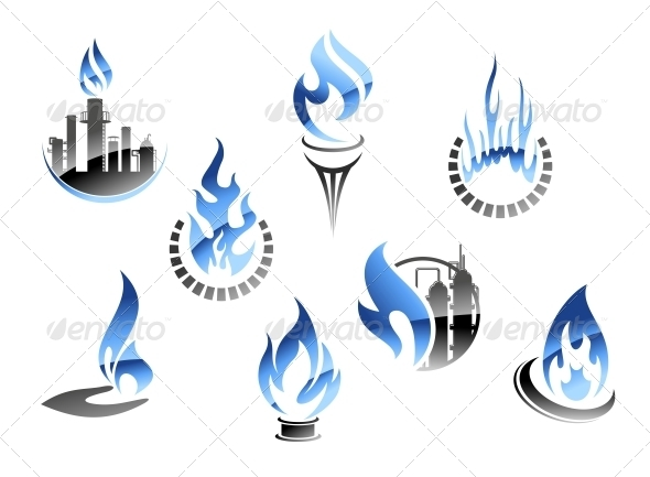 GraphicRiver Gas and Oil Industry Symbols 3533959