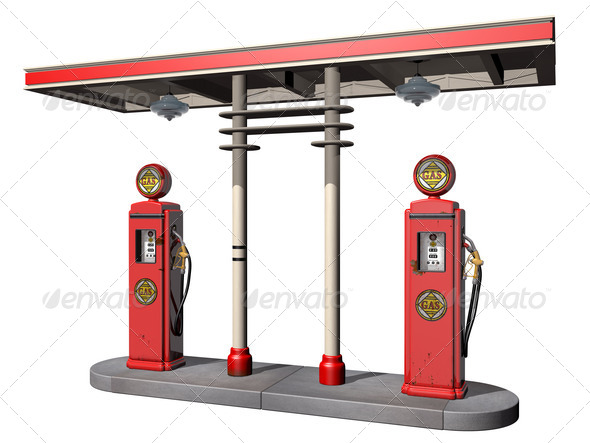 Vintage Gas Pumps - Stock Photo - Images