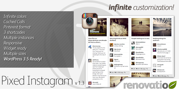 Pixed Instagram - CodeCanyon Item for Sale