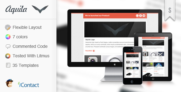Aquila - Flexible E-mail Newsletter - Newsletters Email Templates