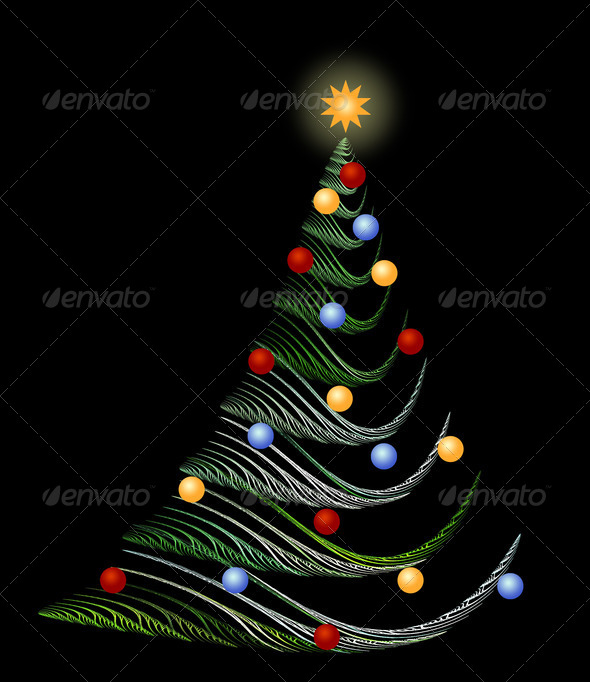 Abstract christmas tree - Stock Photo - Images