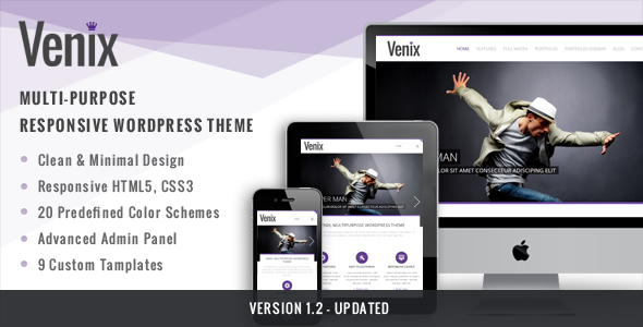 ThemeForest Venix Clean Multipurpose Responsive WP Theme 3373398