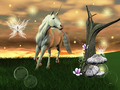 Unicorn Gallops in a Meadow - PhotoDune Item for Sale