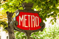 Vintage metro sign in Paris - PhotoDune Item for Sale