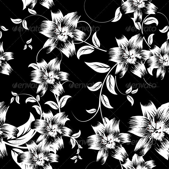 GraphicRiver Seamless Floral Pattern 3536340