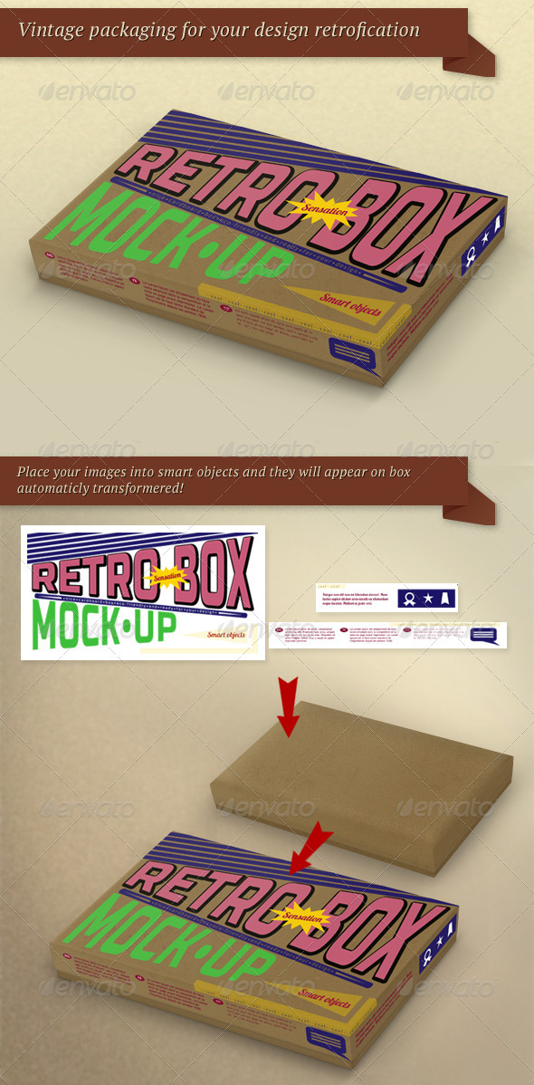 GraphicRiver Retro Package Box Mock-Up 3537479