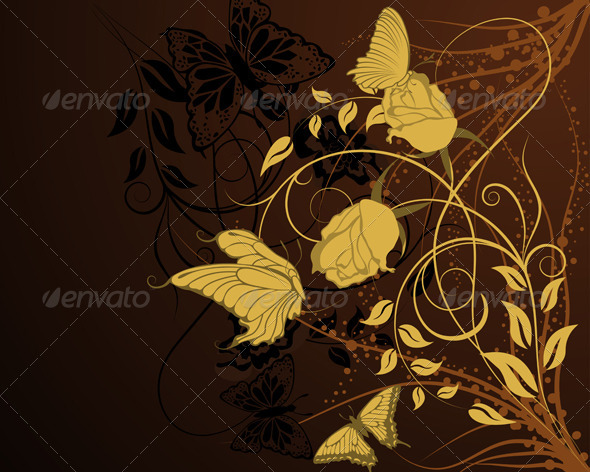 GraphicRiver Floral Background 3537628