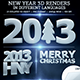 New Year 3D in Different Languages - GraphicRiver Item for Sale