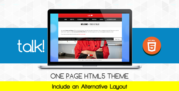 ThemeForest Talk Multipurposes OnePage Theme 3211481