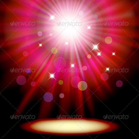 GraphicRiver Background with Red Spotlight 3538423