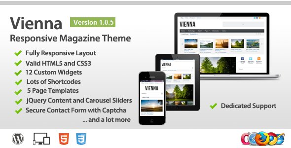ThemeForest Vienna Responsive Wordpress Magazine Theme 3061342