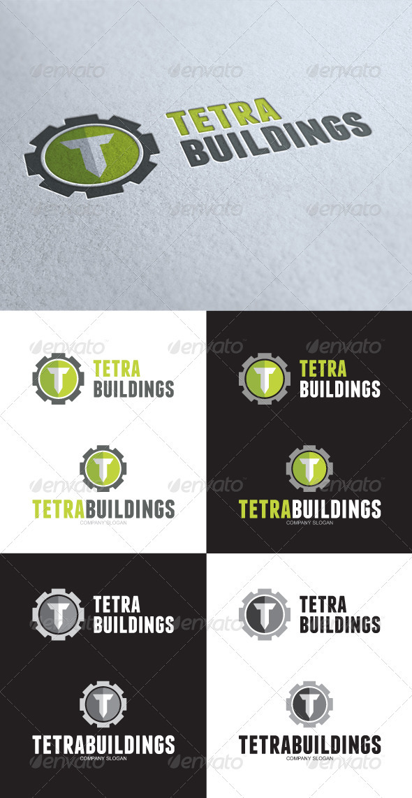 GraphicRiver Tetra Building T Letter Logo 3533299