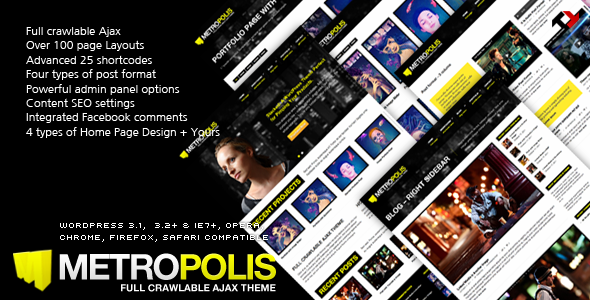 ThemeForest Metropolis Ajax & Premium WP Theme for Creative 683352