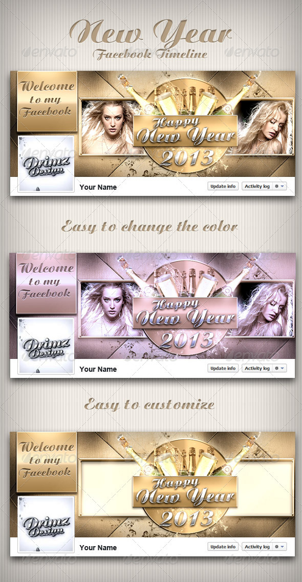 GraphicRiver New Year FB Timeline 3539662