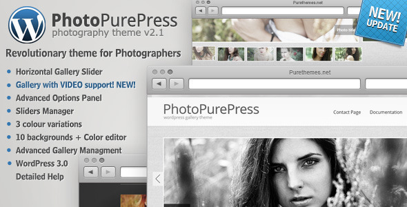 ThemeForest PhotoPurePress WordPress for Photographers 102716