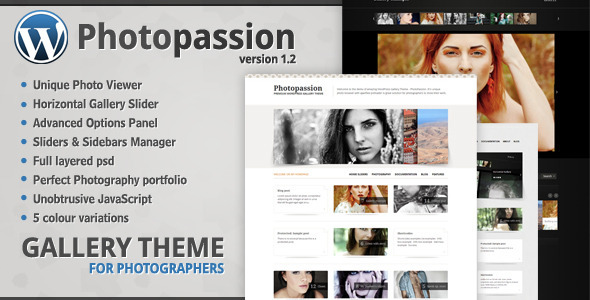 ThemeForest Photopassion WordPress Gallery Theme 206141