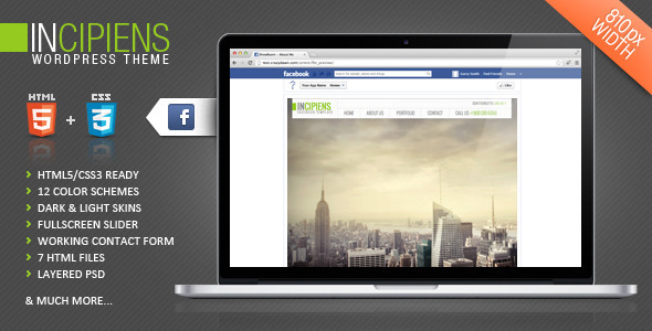 Incipiens Facebook Template - Creative Site Templates