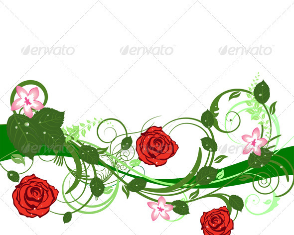 GraphicRiver Floral Background 3541128
