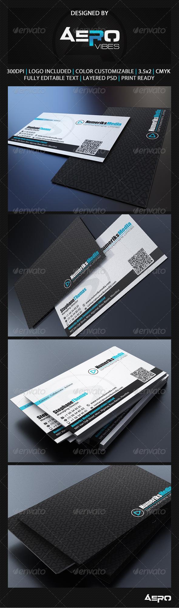 GraphicRiver Modern Black Business Card 3541868